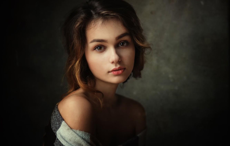 Photo wallpaper portrait, the beauty, Lisa, brown-eyed, Dennis Drozhzhin