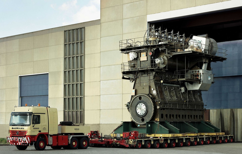 Photo wallpaper big, power, truck, ship, Diesel, Engine
