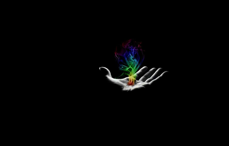 Photo wallpaper color, magic, hand