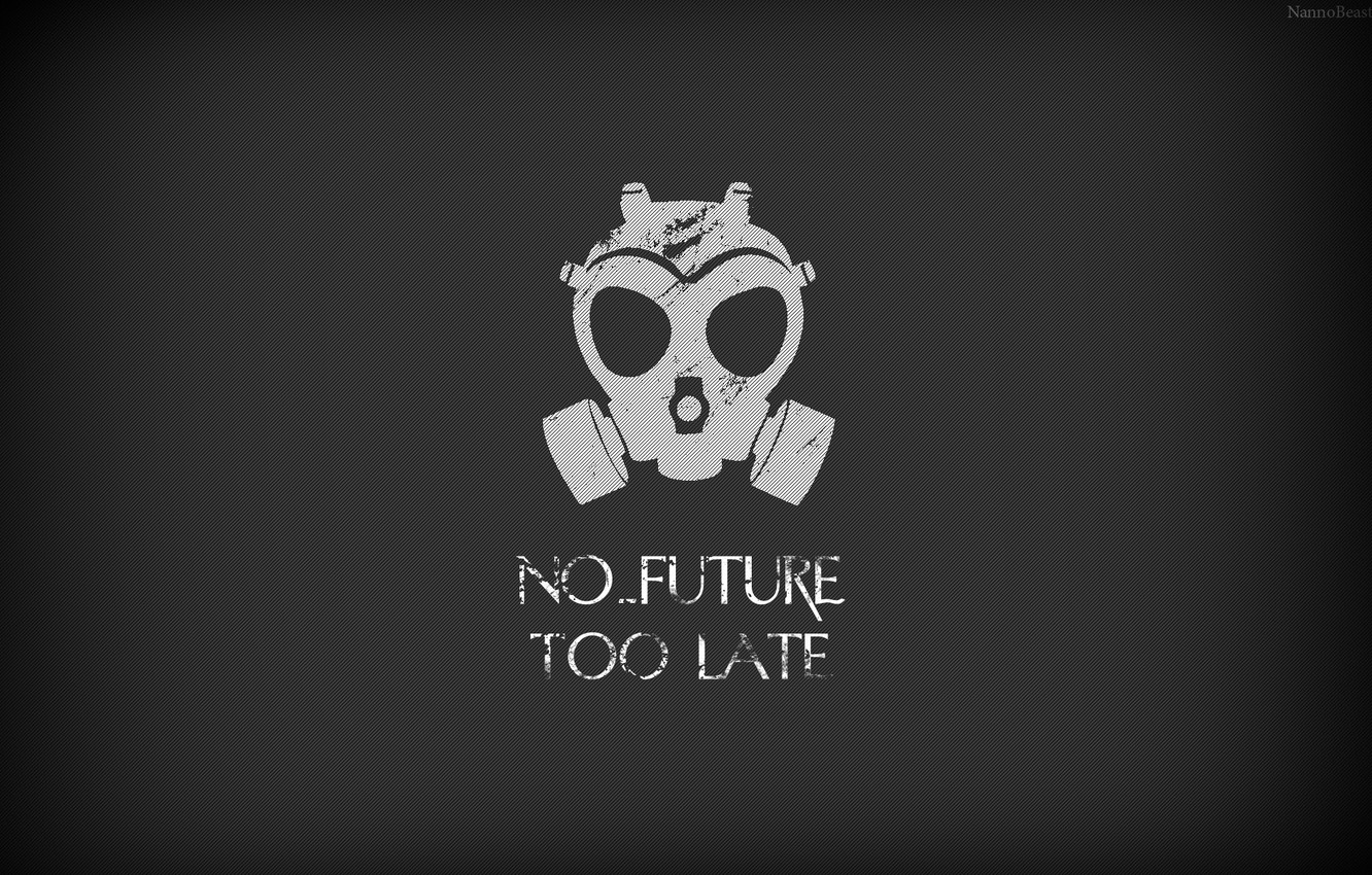Photo wallpaper gas mask, the end of the world, cataclysm