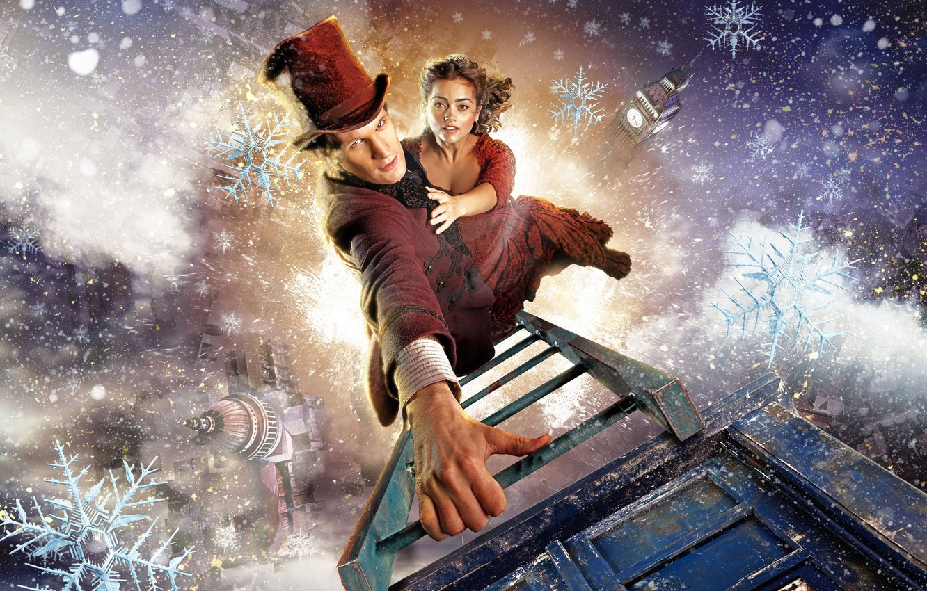 Wallpaper Winter Christmas Hat Ladder Doctor Who Series