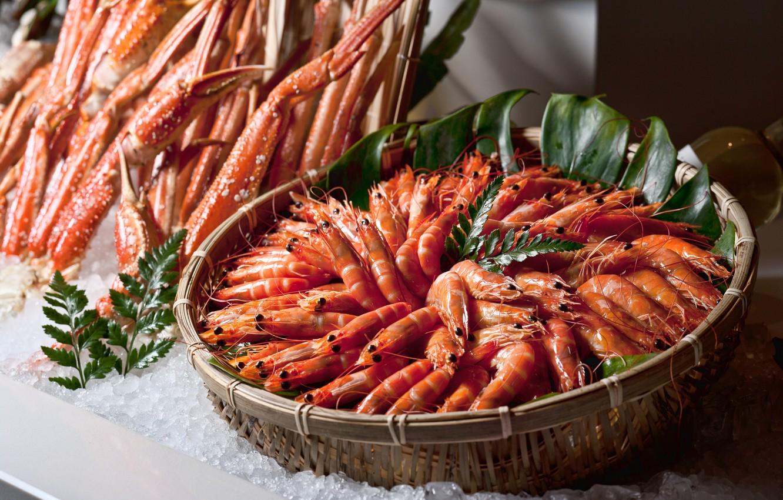 Photo wallpaper crabs, shrimp, seafood