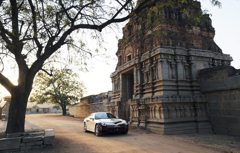 Photo wallpaper car, wallpaper, ferrari, wallpapers, gates, indian, temple