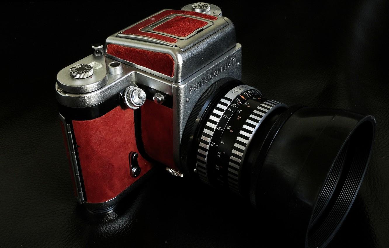 Photo wallpaper macro, camera, Pentacon