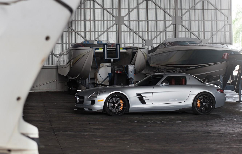 Photo wallpaper Mercedes, AMG, SLS, HRE, P101
