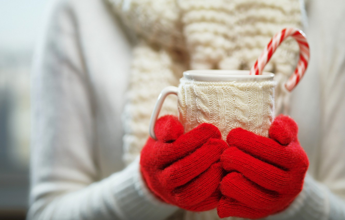 Photo wallpaper winter, mood, holiday, new year, Christmas, Cup, christmas, new year, winter, cup, holiday, drink