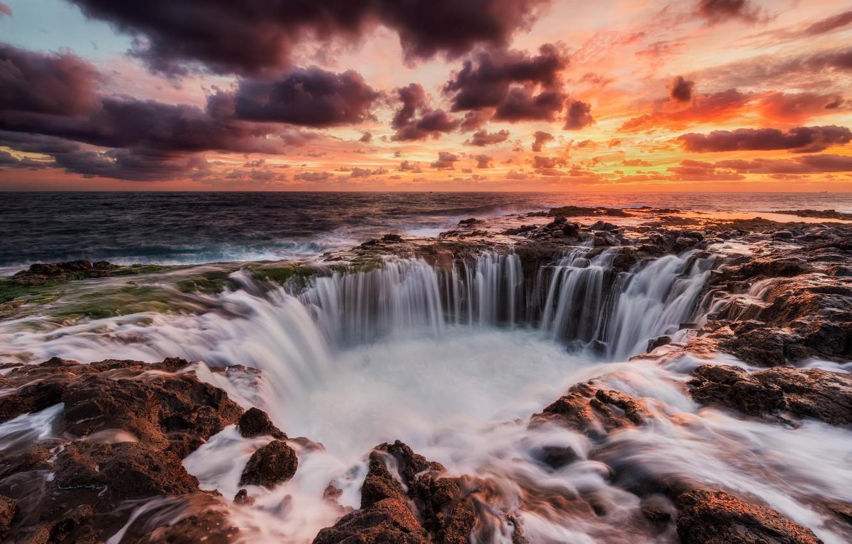 Wallpaper The Ocean Rocks Rasvet Landscape Canary Island