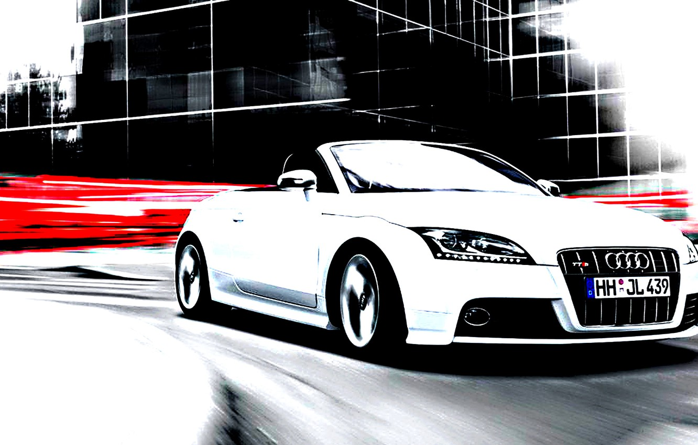 Photo wallpaper car, audi, future, urban, car white, fabulous, great car.