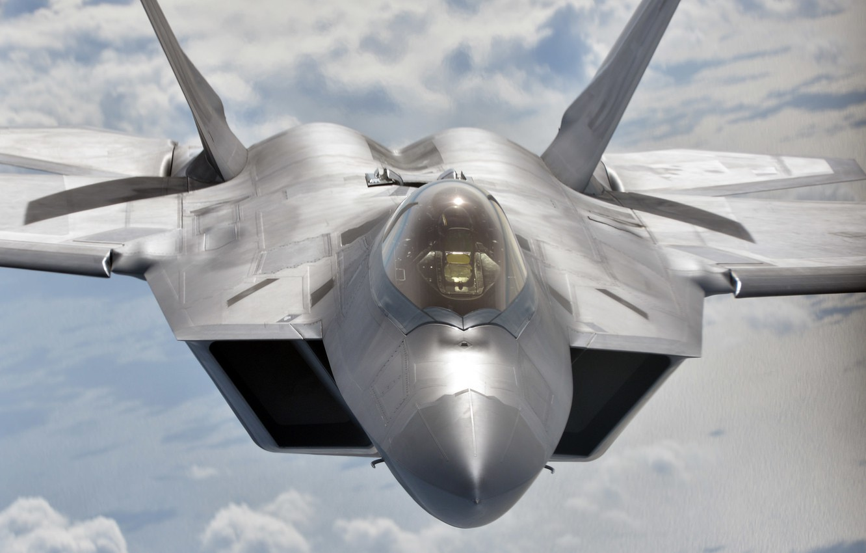 Photo wallpaper fighter, unobtrusive, multipurpose, F-22 Raptor