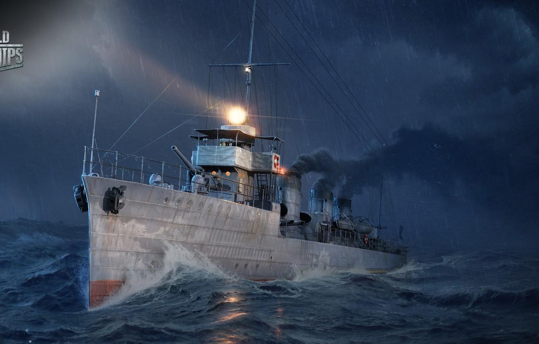 Photo wallpaper sea, ship, destroyer, World of Warships, The World Of Ships, Tachibana