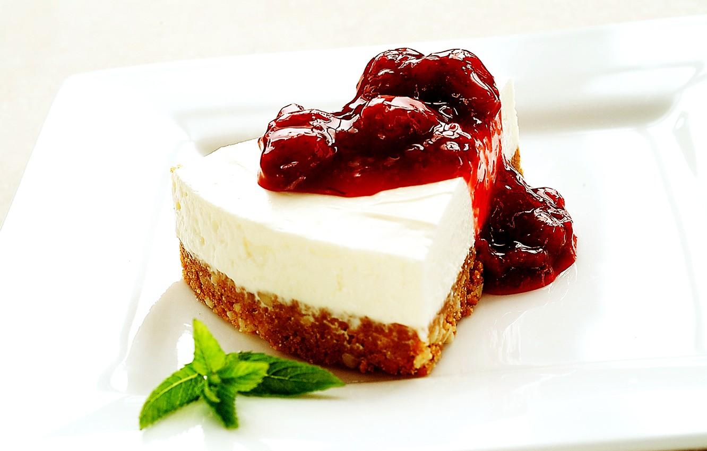 Photo wallpaper food, cake, cake, leaf, dessert, cake, sweet, jam, biscuit, cheesecake