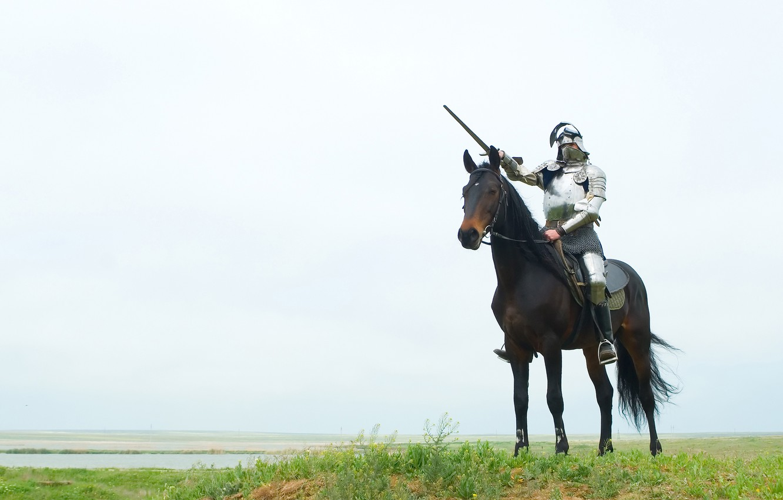 Photo wallpaper sword, Horse, armor, knight