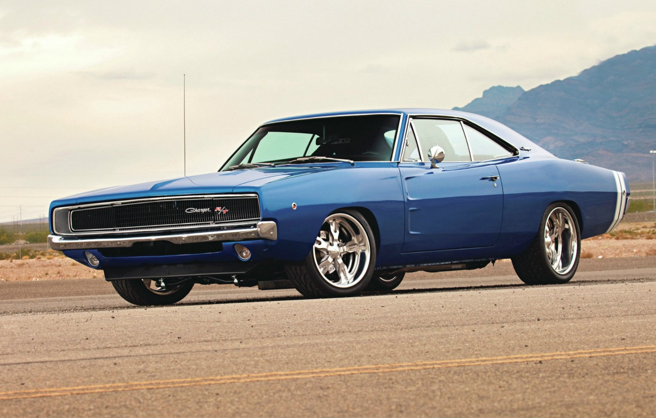 Photo wallpaper Wallpaper, Dodge, dodge, charger, wallpapers, 1968, Muscle Car