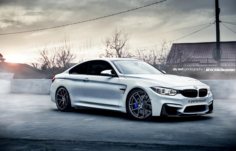 Photo wallpaper BMW, Car, White, Sport, Fog, F82, Z-Performance