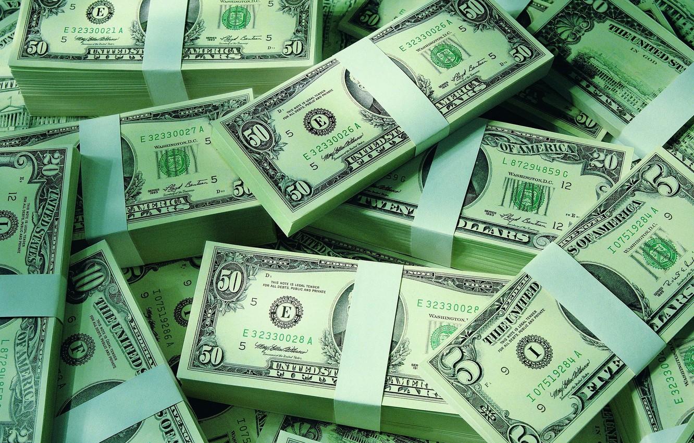 Photo wallpaper dollars, the bucks, packs