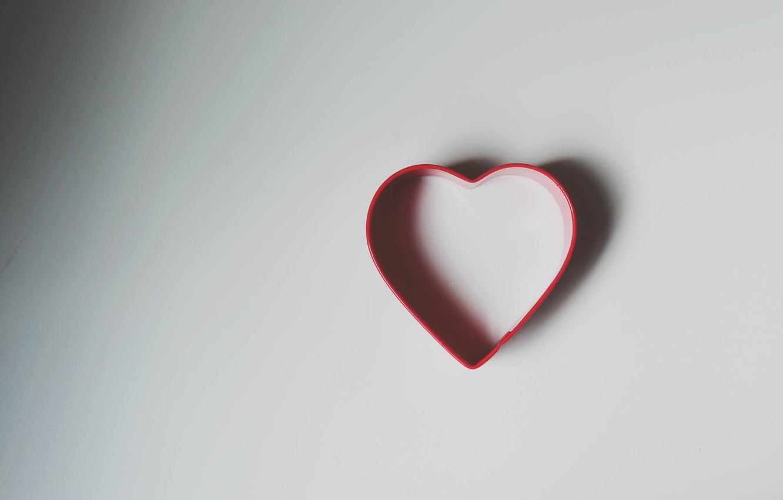 Photo wallpaper heart, shadow, form