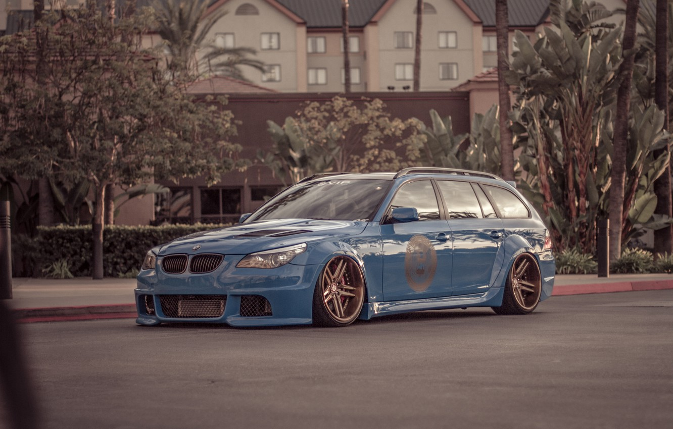 Photo wallpaper BMW, Tuning, BMW, Drives, Stance, E61