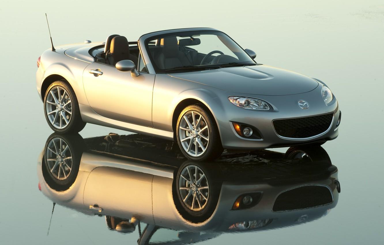 Photo wallpaper reflection, Mazda, MAZDA