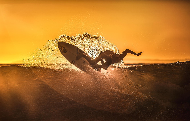 Wallpaper Sunset Squirt The Ocean Sport Wave Athlete