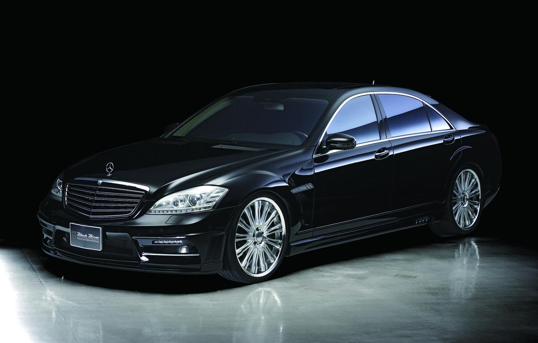 Photo wallpaper Mercedes-Benz, black, w221