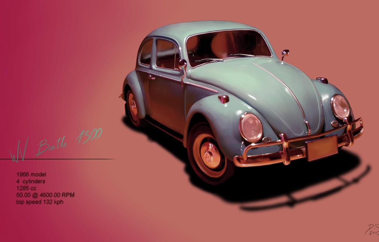 Photo wallpaper beetle, Volkswagen, Volkswagen, 1966, Beetle, beatle