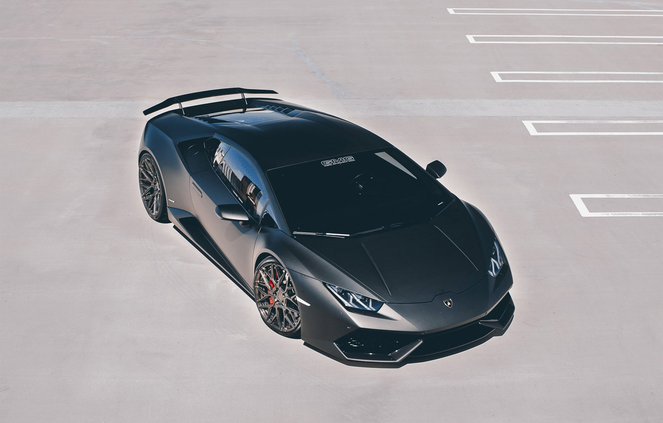 Photo wallpaper car, Lamborghini, wallpaper, supercar, black, Huracan, GMG