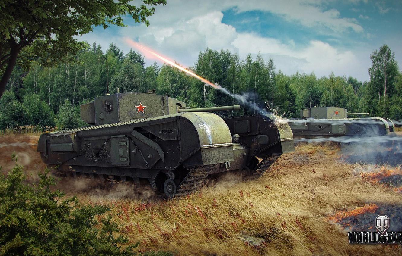 Photo wallpaper tank, tanks, WoT, World of tanks, tank, World of Tanks, tanks, Churchill, Wargaming.Net, BigWorld