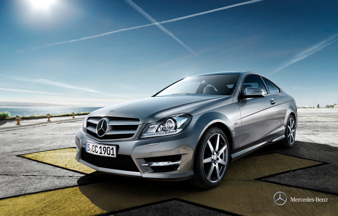 Photo wallpaper Mercedes-Benz, Mercedes, 2011, C204, C-class