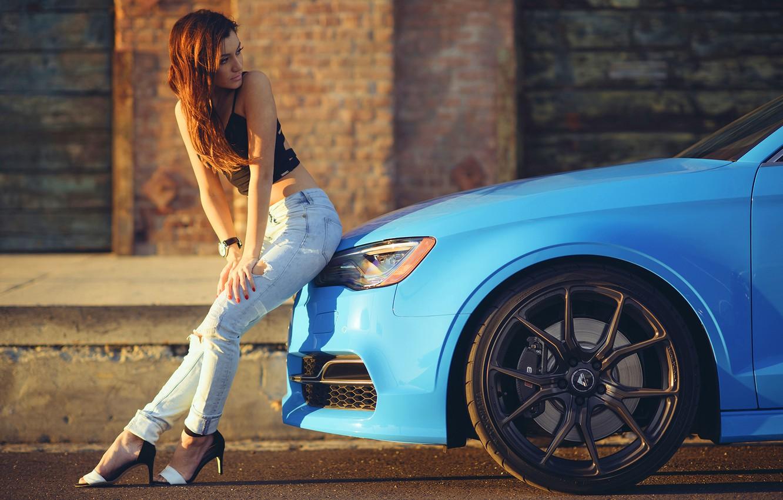 Wallpaper Audi Girl Legs Blue Vorsteiner Sun Day Wheels Nice Images For Desktop Section Devushki Download