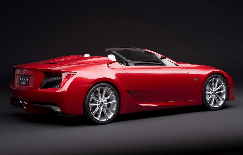 Photo wallpaper red, Lexus, the concept, 2010, Lexus, LF-A, Rodster
