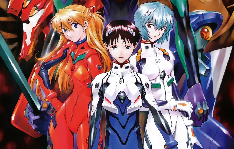 Photo wallpaper Ayanami Rei, Evangelion, It Became Shinji, Sōryū Asuka Rangurē