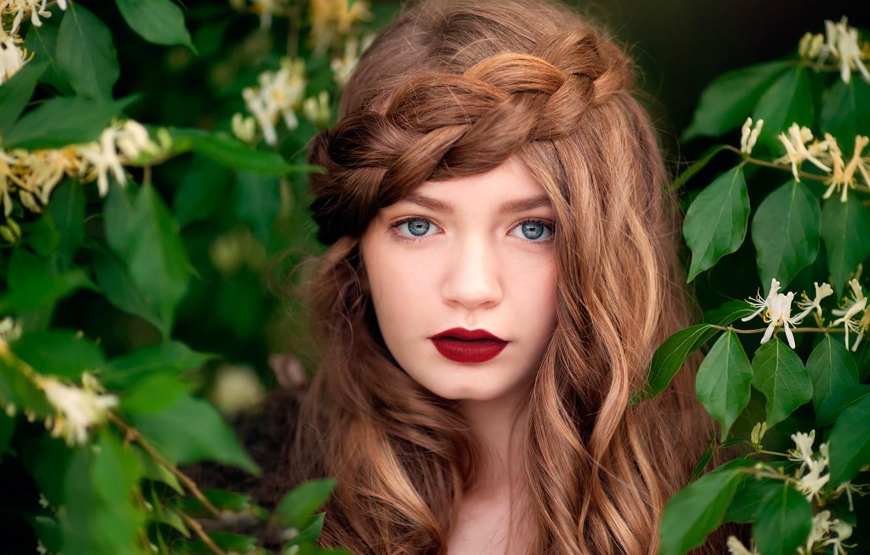 Photo wallpaper portrait, makeup, girl, child photography, Floral Fairy