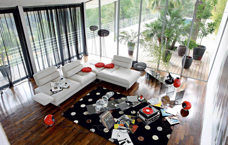 Photo wallpaper design, house, style, room, Villa, interior, living room
