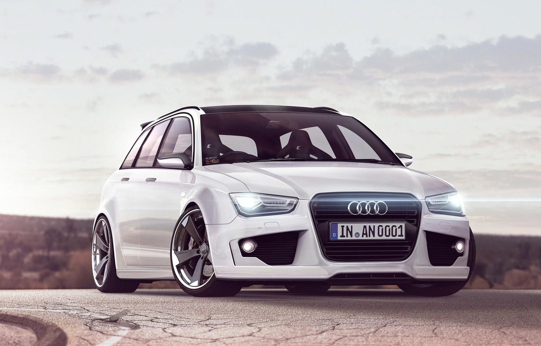 Photo wallpaper Audi, white, universal, RS4, Before