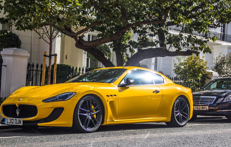 Photo wallpaper yellow, Maserati, supercar, yellow, Maserati, granturismo, GranTurismo