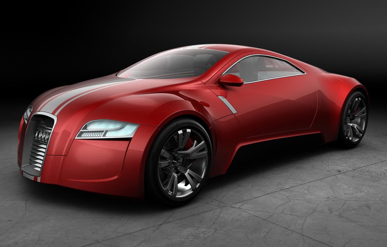 Photo wallpaper Concept, red, Audi