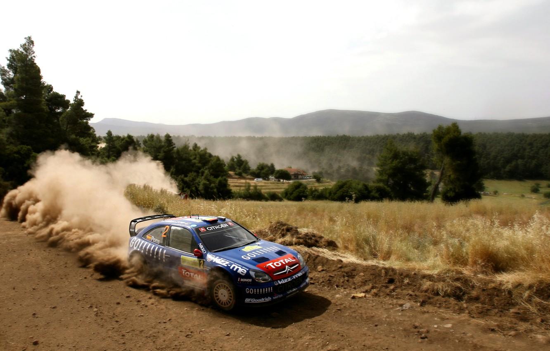 Photo wallpaper Auto, Blue, Dust, Sport, Machine, Speed, Citroen, WRC, Rally, Rally, Xsara