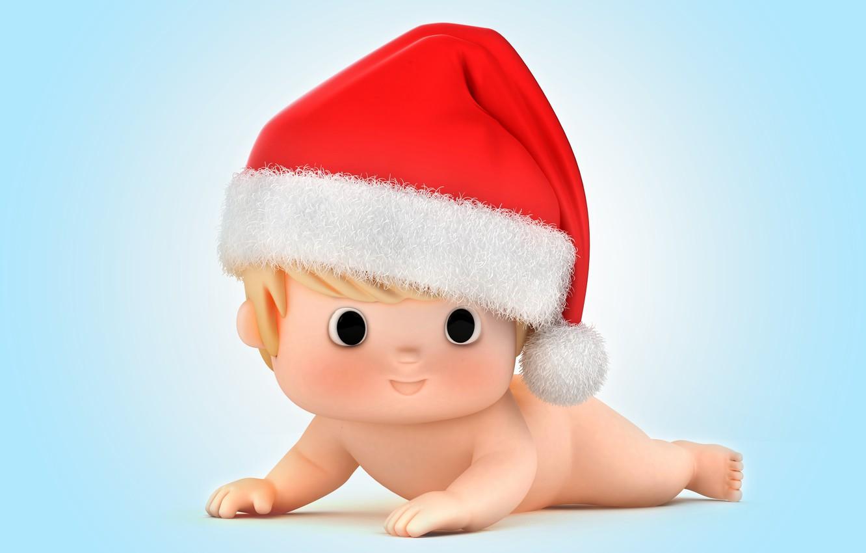Photo wallpaper new year, Christmas, baby, christmas, Santa, baby, santa claus, kid, santa