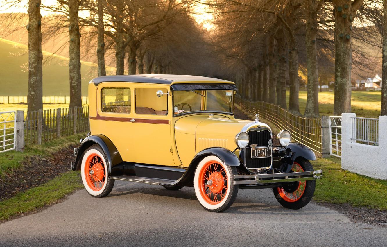 Photo wallpaper retro, Ford, classic, Tudor, 1928 Ford Model A Tudor