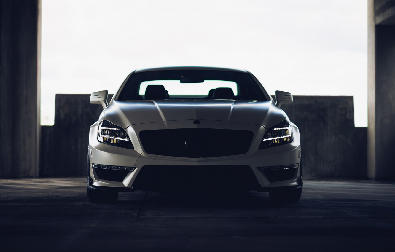 Photo wallpaper tuning, Mercedes, the front, mercedes cls 63 amg