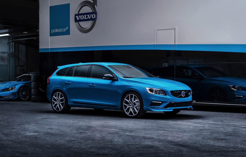 Photo wallpaper Volvo, Blue, Volvo, V60, Universal, Polestar