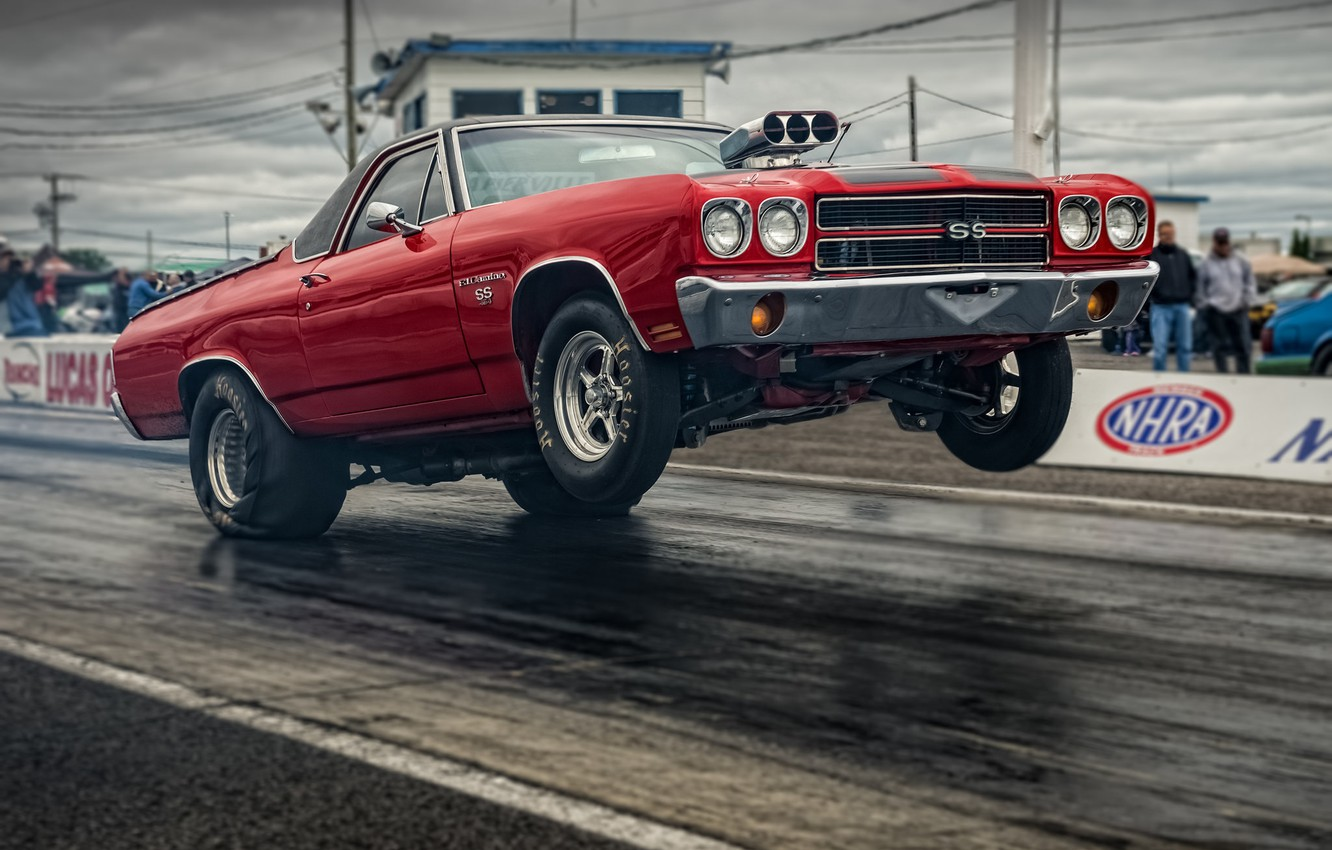 Photo wallpaper race, Chevrolet, muscle car, Muscle car, The Way, drag racing