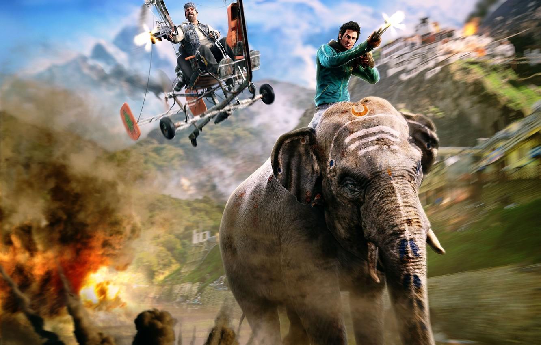 Wallpaper Elephant Shooting Far Cry Far Cry 4 Ajay Ghale Ajay