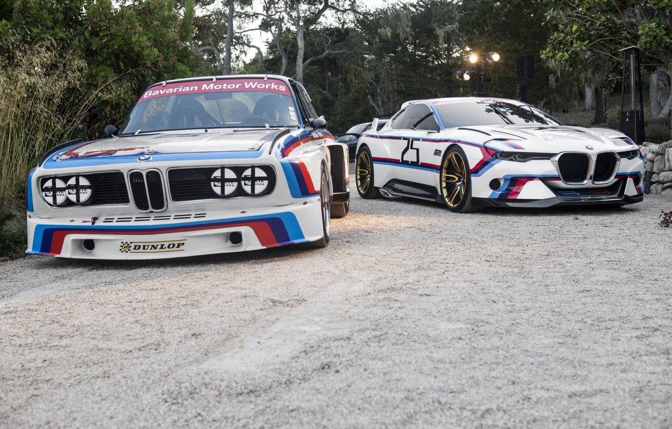 Photo wallpaper Concept, BMW, BMW, Hommage, 3.0, The front, CSL, Old and New