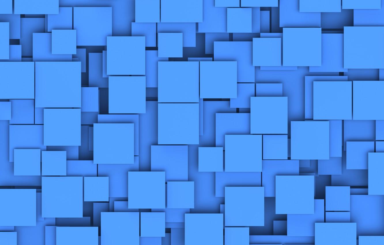 Photo wallpaper squares, shadows, layers