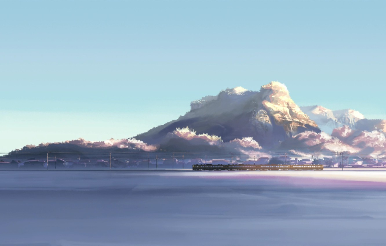 Wallpaper Winter Snow Landscape Mountains Train 5 Centimeters