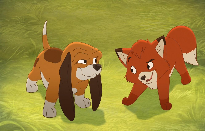 Wallpaper Character Cartoon Dog Puppy Fox The Dog And Fox Kids