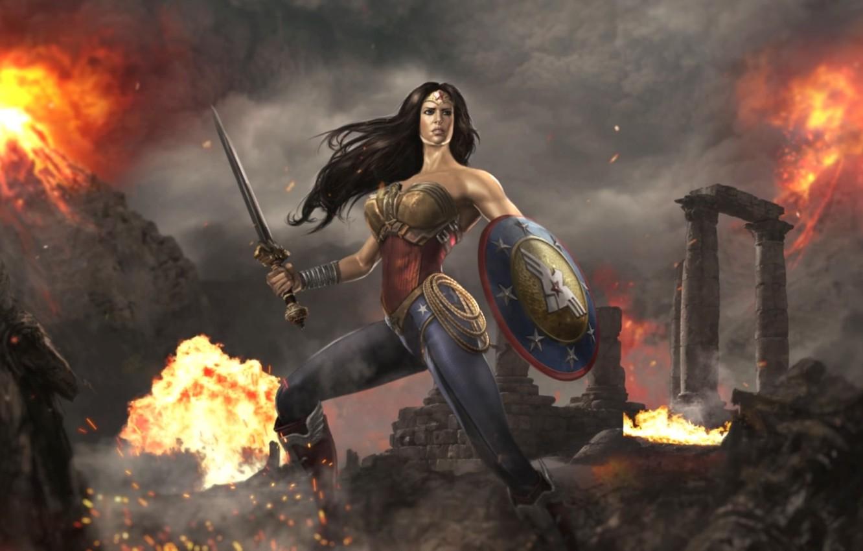 Fantasy Art Female Knight Sword And Shield