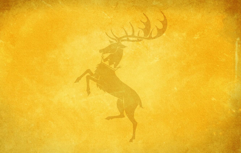 Photo wallpaper deer, game of thrones, game of thrones, House Baratheon