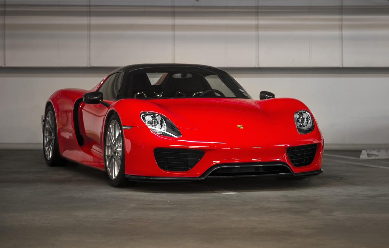 Photo wallpaper Porsche, Red, Spyder, 918